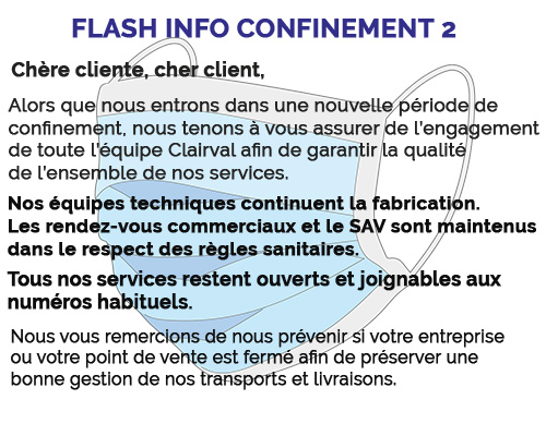flash info confinement 2 Clairval