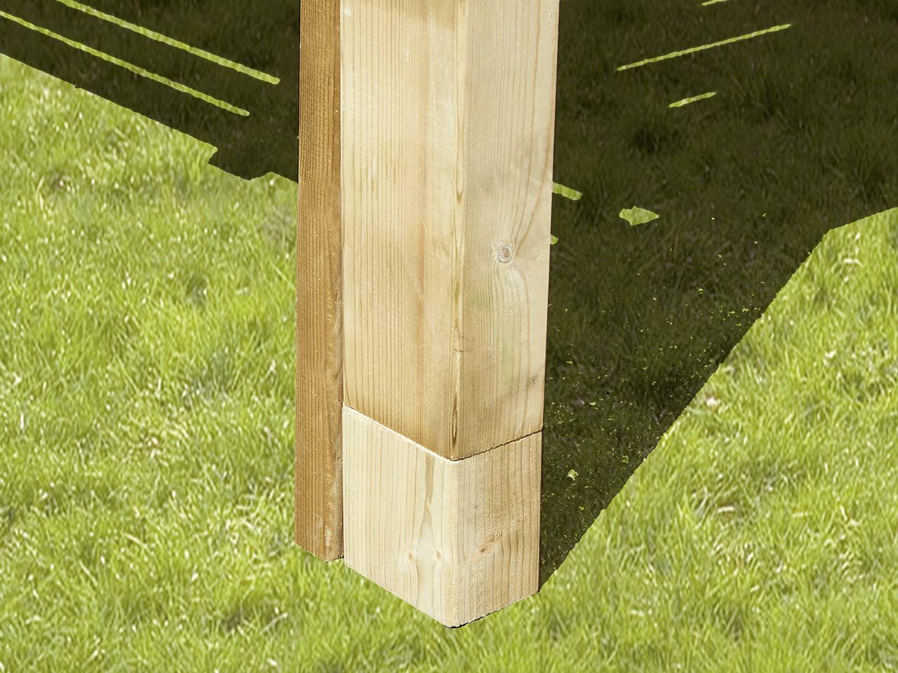 Poteau Bois Pour Terrasse kit bois rehausse plancher | clairval